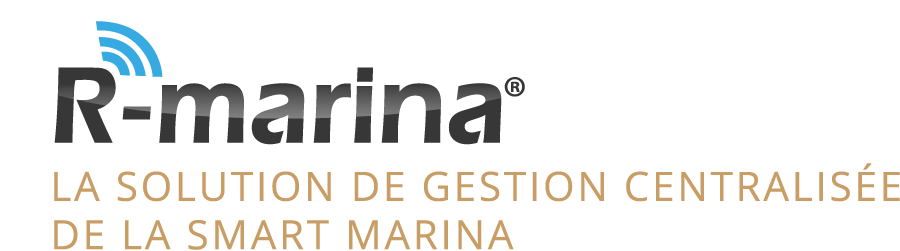 R marina sign white FR